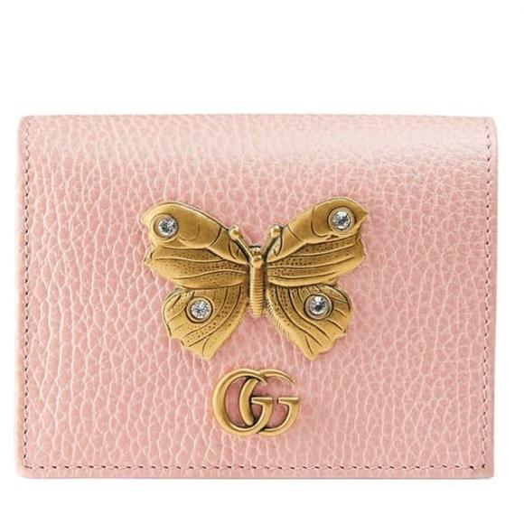 8b7a86cbc058 Gucci Accessories   Farfalla Leather Mini Wallet Card Case   Poshmark